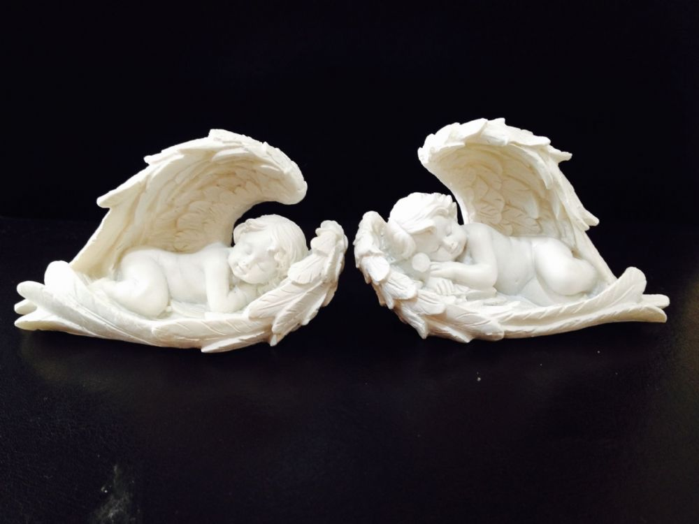 Cherubs Sleeping Pair Small Angelic Baby Angel Cherub